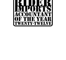 Rider Imports Accountant of the Year by createture