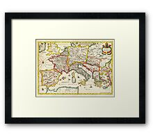 1657 Jansson Map of the Empire ofCharlemagne Geographicus CaroliMagni jansson 1657 Framed Print
