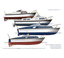 First generation of Fairey Powerboat hulls Photographic Print