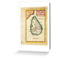 1686 Mallet Map of Ceylon or SriLanka (Taprobane) Geographicus Taprobane mallet 1686 Greeting Card