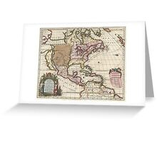 1698 Louis Hennepin Map of North America Geographicus NorthAmerica hennepin 1698 Greeting Card