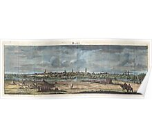 1698 de Bruijin View of Rama Israel (Palestine Holy Land) Geographicus Rama bruijn 1698 Poster