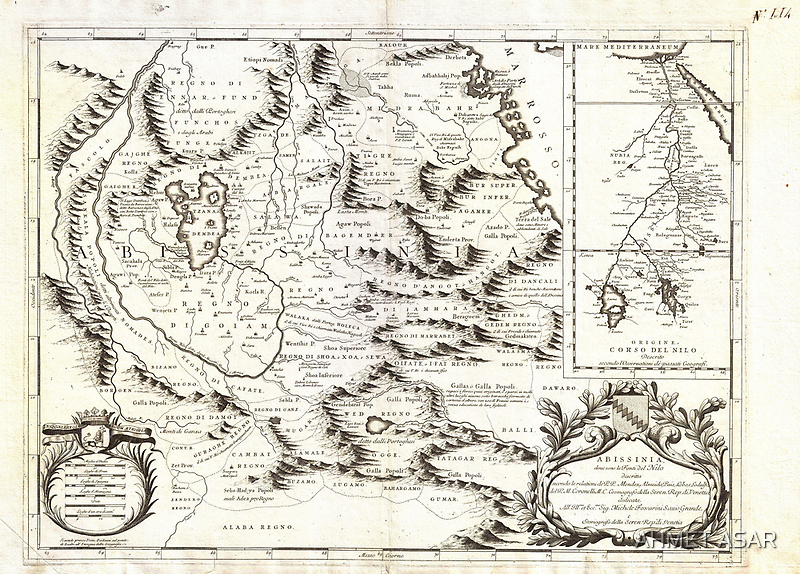 1690 Coronelli Map of Ethiopia Abyssinia and the Source of the Blue Nile Geographicus Abissinia coronelli 1690 by Adam Asar