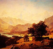 bernese alps as seen near kusmach 1859 by Adam Asar