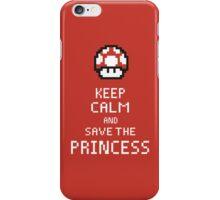 Keep Calm And Save The Princess iPhone Case/Skin