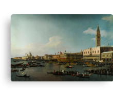 Canaletto  Venice The Basin of San Marco on Ascension Day Canvas Print