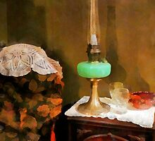 Still Life With Hurricane Lamp by Susan Savad