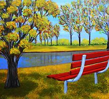 The red bench  by maggie326