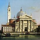 Canaletto  The Church of S. Giorgio Maggiore, Venice, with sandalos and gondolas (c. 1748) by Adam Asar