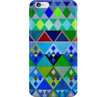 Cobalt blue diamond pattern iPhone Case/Skin
