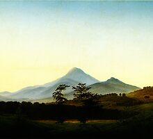 Caspar David Friedrich Böhmische Landschaft by Adam Asar