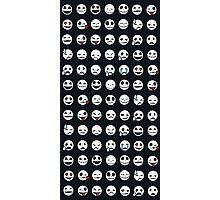 Skull Emoticons Photographic Print