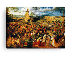 christ carrying the cross 1564 Canvas Print