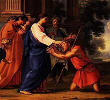 christ healing the blind man by Adam Asar