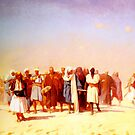 egyptian recruits crossing the desert by Adam Asar