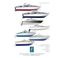 Sonny Levi's British built offshore powerboats Photographic Print