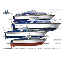 The Fairey hot moulded powerboats Photographic Print