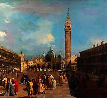 Francesco Guardi    Venice Piazza San Marco by Adam Asar