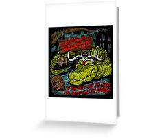 Mola Ram's Gator Wrestlin' School Greeting Card