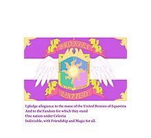Brony Pledge of Allegiance Photographic Print