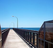 Leighton Beach Rail Bridge 03 12 12 by Robert Phillips