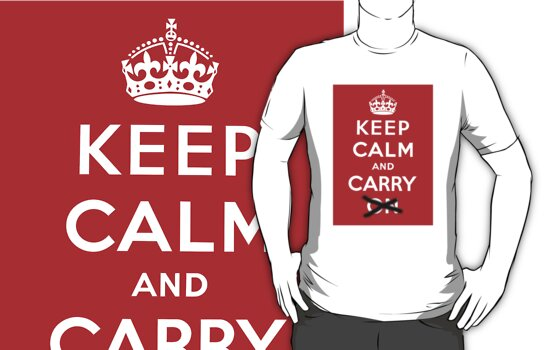 Keep Calm And Carry by Csaba Gyurak