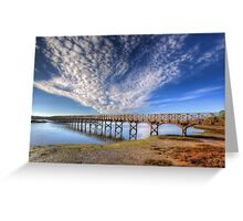 Quinta do Lago The Wooden Bridge Greeting Card