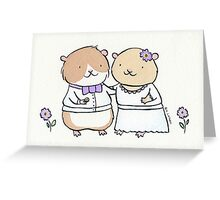 Hamster Wedding Greeting Card