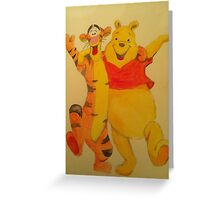 Pooh and Tigger Greeting Card