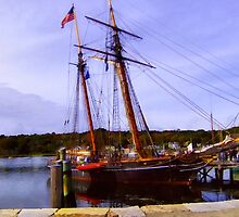 The Amistad on the Mystic River by RC deWinter