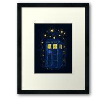 Space Time Impressionism Framed Print