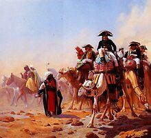 general bonaparte with his military staff in egypt 1863 by Adam Asar