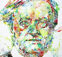 RICHARD WAGNER watercolor portrait by lautir