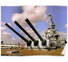 USS Alabama, Mobile Poster