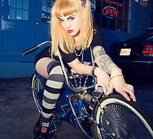 Chelsea Deville on the Bike by Greg Easton