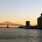 Bridge over the Mississippi River in New Orleans by ADayToRemember