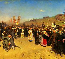 ilya repin religious procession in kursk province by Adam Asar