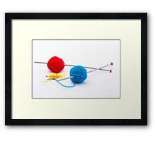 Knitting according Mondriaan Framed Print