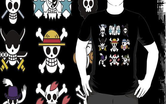 The Straw Hat Crew's Jolly Roger by takandre