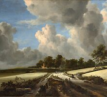 Jacob van Ruisdael   Wheat Fields (c. 1670) by Adam Asar