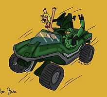 Halo: Master-Beta and his Warthog by Extreme-Fantasy