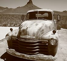 Route 66 - Classic Chevy by Frank Romeo