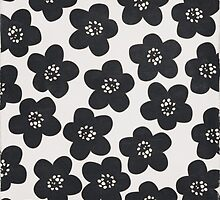 floral doodle black and white by JAstudios