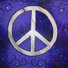 Retro Peace, purple black by Heather Conley