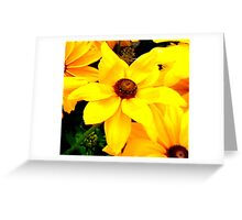 """""""Yellow Flower"""" by Chip Fatula Greeting Card"""