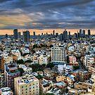 Tel Aviv skyline winter time by Ronsho