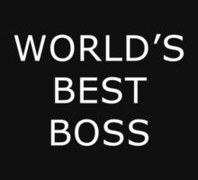 World's Best Boss - The Office (White Text) by CalumCJL