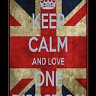 Keep Calm and Love One Direction Phone Case by femmefatale22