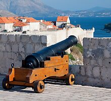 Medieval Cannon in Fort Lovrijenac by Artur Bogacki