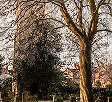Winter at St Mary Magdalene's, Stony Stratford by David Isaacson